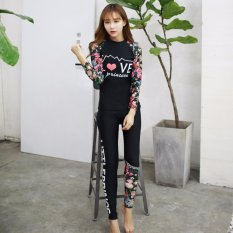 Ocean NEW Lady Diving suit fission bathing suit Long sleeve +trousers Hot spring bathing suit