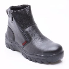 """Octopus Sepatu Safety Industrial / Safety Shoes OX 608 #6"""" - Hitam"""