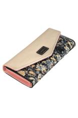 OEM Women Retro Leather Long Wallet (Black)
