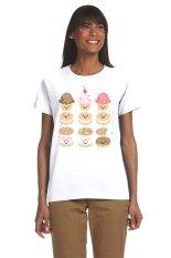 Ogita Tee - Kaos Wanita - Tumblr Tee - Kaos Tumblr - Cupcakes - Putih