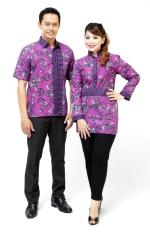 Oktovina-HouseOfBatik Kemeja & Blus Batik - Batik Couple KBKC-11 - Ungu