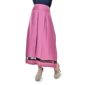 Origami Organza Velvet Skirt - Pink