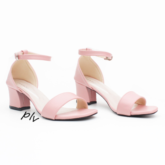 Own Works Open Toe Ankle Strap Block Mid Heel Sandals - Salem