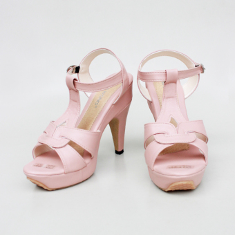 Own Works Pump Shoes Toe High Heels T-Strap - Salem