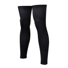 Pair of Sports Football Basketball Cycling Strech Leg Knee Long Sleeves - Size XXXL (Black) - intl