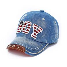 PAlight Anak Baseball Cap Cowboy Hat Dapat Disesuaikan (Biru)