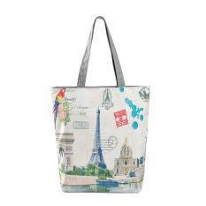 Paris Tower Canvas Tote Casual Beach Bags Women Shopping Bag Handbags