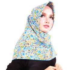 Parisku Jilbab Hijab Segiempat Katun Parisku Square Faatin Blue