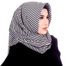 Parisku Jilbab Hijab Segiempat Katun Parisku Square Monochrome TWISTY