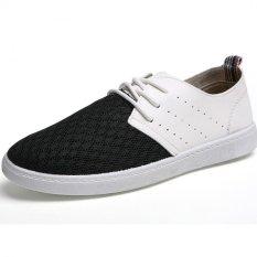 PATHFINDER Men's Summer Fashion Mesh Sneakers (Black)