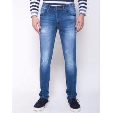 People's Denim Man Jeans Oxerize Slim Fit - Biru