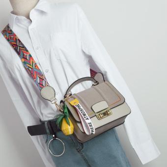 Perempuan baru Korea Fashion Style Messenger tas tas (Abu-abu)