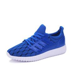 PF 888BL Men's Breathable Mesh Fashion Sports Shoes (Blue) - Intl