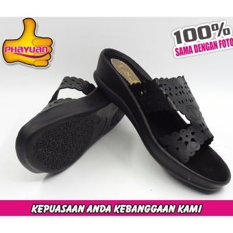 PHAYUAN sandal wanita J7 Hitam