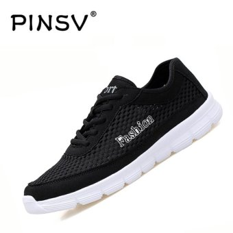 PINSV Big Size Men's Sport Shose Casual Running Shoes (Black) -intl