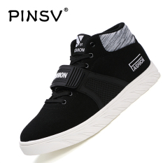 PINSV Lovers Unisex Casual Shoes Fashion Sneakers High Cut Skate Shoes (Black) - Intl