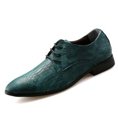 PINSV Synthethic Leather Men Formal Shoes Casual Leather Shoes (Green) - INTL