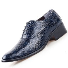 PINSV Synthethic Leather Men Formal Shoes Derby & Oxfords (Blue) (Intl)