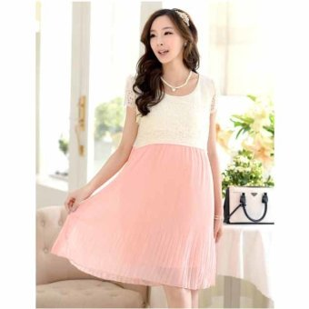 441720cc6ae92 Harga Plaka Maternity Skirt Casual Ledies Stripe Pregnant Dresses ...