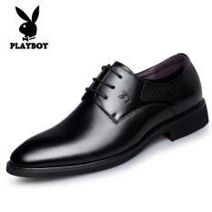 PLAYBOY Inggris Kulit Hitam Sepatu Pria Anak Sepatu Pria (Hitam)