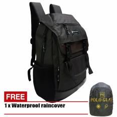 Polo Gives Tas Ransel Korea 1311 Jumbo Import Original - Coffee + Raincover