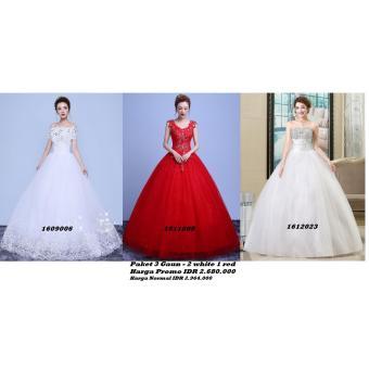 PR17001 Paket 3 Gaun Pengantin Wedding Gown Wedding Dress