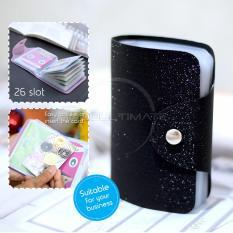 PREMIUM Dompet Kartu Nama 26 Slot /Dompet Kartu ATM/credit card OR 92-01 BLINK - Black