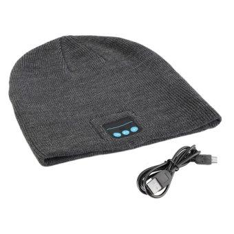 Harga Dan Spesifikasi 360dsc Kacamata Hitam Dengan Bluetooth Source · Pria Cerdas Musik Nirkabel Bluetooth Headphone Cap Topi Kupluk Rajut Hangat Abu abu ...