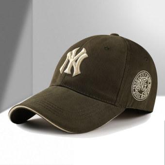 Pria dan wanita muda topi baseball topi (Tentara hijau)