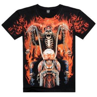 Printed Creative T Shirt 3D Men's T-shirt Summer Novelty 3D Psychedelic Tee Shirts Clothes - Intl