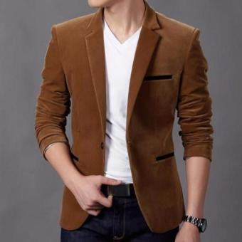 produsen jas - Blazer Pria Casual Slimfit Trendy - 0062