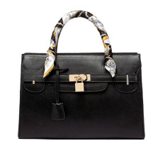 PU Leather Women Handbag Super Star Vintage Women Messenger Bags (Black)
