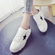 Pudding Women's White Platform Shoes Leisure Shoes Black