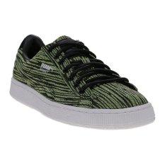Puma Basket Classic Tiger Mesh Basketball Shoes - Safety Yellow-Puma Black