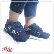 Qfaa - Sepatu Casual Balita/ Sepatu Kets Anak Laki-laki Navy Blue