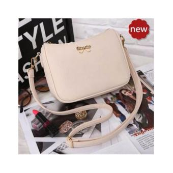 Quincy Label Bow Women Sling Bag / Pu Leather - Cream
