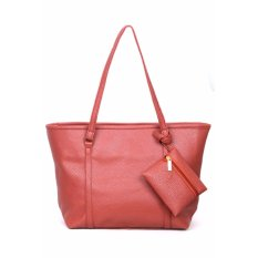 Quincy Label Eve Tote Bag Bonus Tas Kecil - Light Brown
