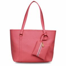 Quincy Label Eve Tote Bag Bonus Tas Kecil - Peach