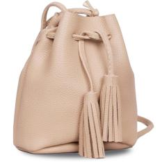 Quincy Label Joy Tassel Bucket Bag - Beige