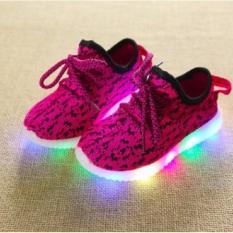 Quincybaby Model Sepatu Lampu Anak Kasual S264 - Pink