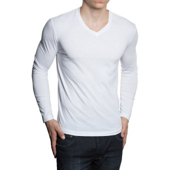 QuincyLabel Long Slevee V Neck - White