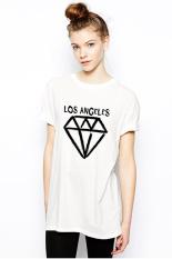 QuincyLabel Print T-shirt Los Angeles A-119 - Putih