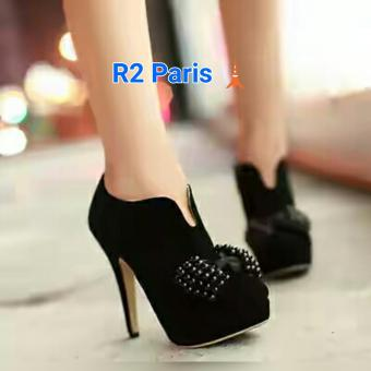 R2Paris High Heels Boots Gladis - Hitam