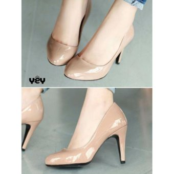 R2Paris High Heels Suede Simple Coklat