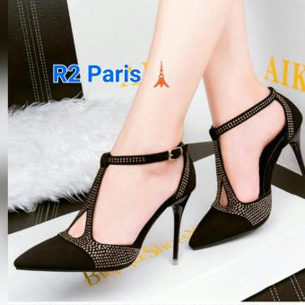 R2Paris High Heels Ti Monica - Hitam
