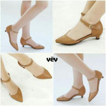 R2Paris Mini Heels Strap Rossa 3cm Coklat