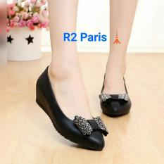 R2Paris Wedges Pita Natalie - Hitam