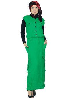 Raindoz Baju Muslim Wanita - Hijau