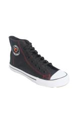 Raindoz Sneakers High Lace Black - Hitam