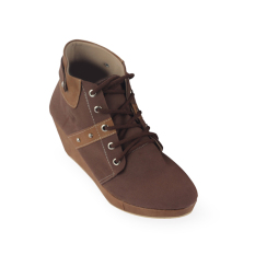 Raindoz Women Wedges Ankle Boots - Cokelat
